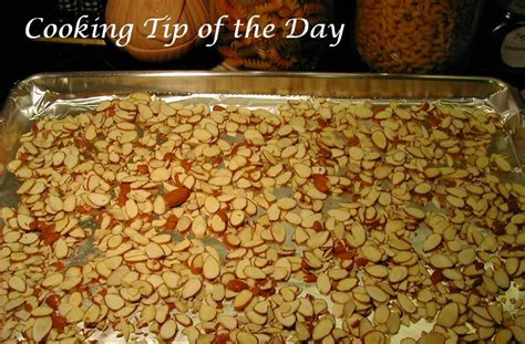 cooking tip of the day how to toast almonds
