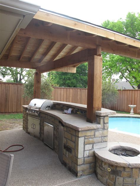 outdoor pergolas covered outdoor kitchen weatherproof wonderful wooden awning pillars and plafond also modern
