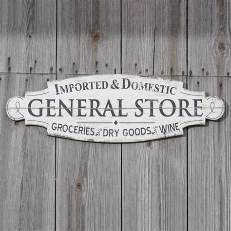rustic general store wood sign antique farmhouse