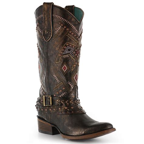 coral boots corral s thunderbird harness western boots boot barn