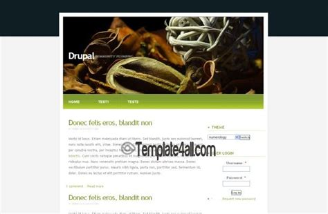 drupal green theme free greeny field nature drupal theme template