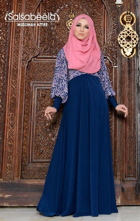 pretty dress muslimah in kuala lumpur muslimah dark blue floral dress pretty hijab pinterest