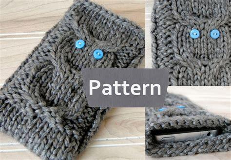 knitting pattern download pdf pdf pattern instant download knit iphone 5 owl cozyknit