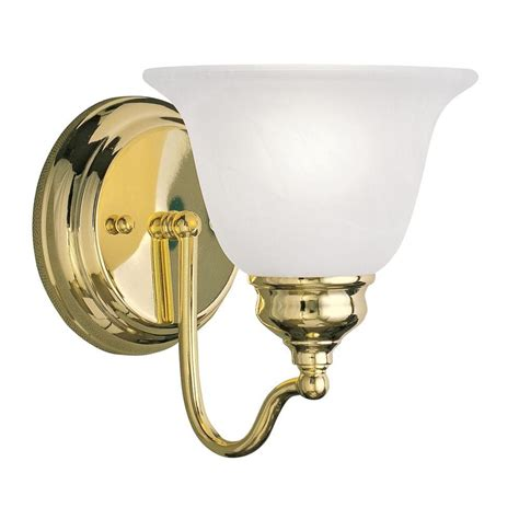 Polished Brass Vanity Lights Livex Lighting Providence 1 Light Polished Brass Incandescent Wall Vanity Light 1351 02 The