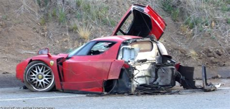 Crashed Ferrari Enzo by Ferrari Enzo Crash In Malibu
