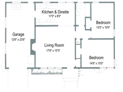 Floor Plan For 2 Bedroom House by 2 Bedroom House Plans With Open Floor Plan Australia