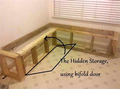 how to build a banquette storage bench building a banquette from bifold closet doors mom and