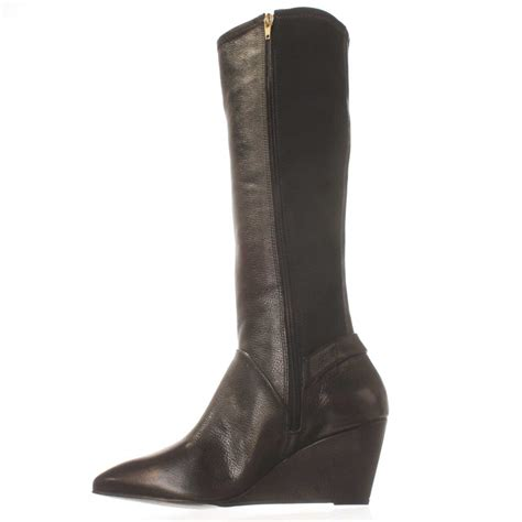 steve madden wedge boots steve madden steven by jaden wedge boot in black lyst