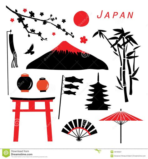 japan design japan travel icon design vector stock vector image 48183567