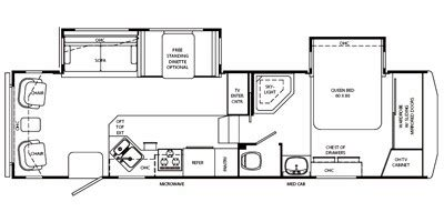 rambler fifth wheel floor plans 2008 rambler alumascape fifth wheel series m 29ckd specs and standard equipment nadaguides