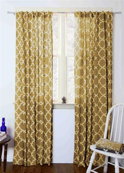 yellow drapes moroccan curtains yellow tiles mustard geometric window