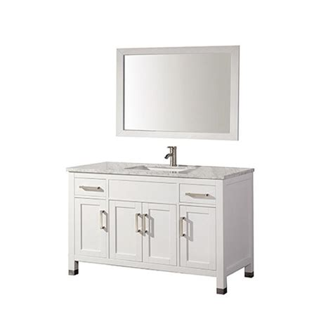 shop mtd vanities white undermount single sink bathroom