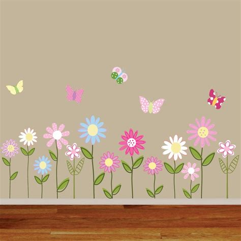 butterfly and flower wall stickers 1000 ideas about flower wall decals on wall decals wall stickers and flower wall