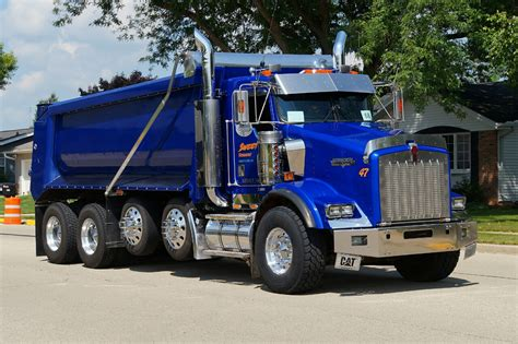 largest kenworth truck kenworth custom t800 quad axle dump trucks big rigs