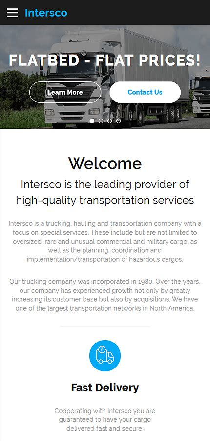bootstrap templates for logistics transportation type website templates template 61391