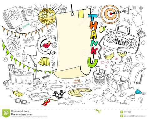 doodle you thank you doodle stock vector image of arrangement