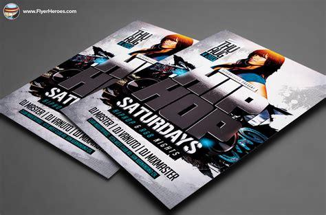 3d Hip Hop Psd Flyer Template Flyer Templates On Creative Market 3d Flyer Templates