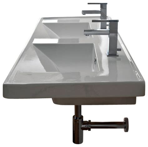 houzz bathroom sinks rectangular double white ceramic self rimming or wall mounted bathroom sink