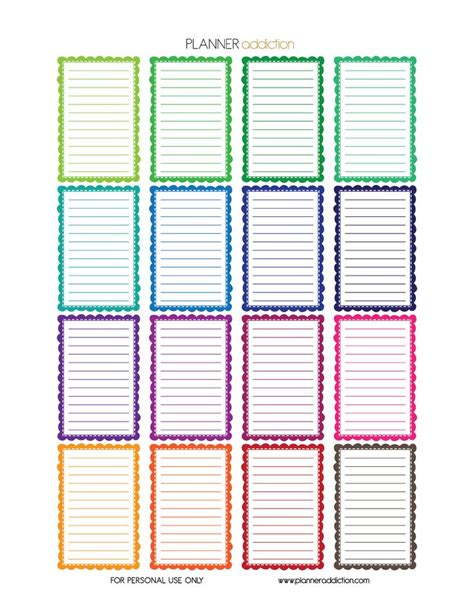 happy planner free printable stickers free printable planner stickers frames happy planner