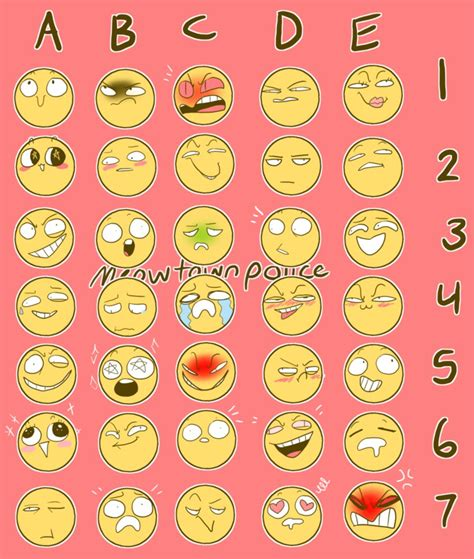 expressions meme expression meme by xlerotl on deviantart