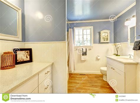 lavender bathroom walls bathroom with lavender and white wall trim stock photo