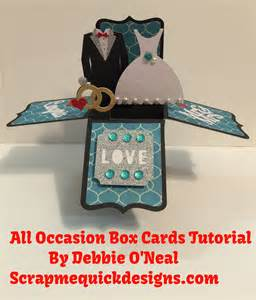 cricut all occasion box cards cartridge tutorial