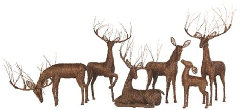grapevine reindeer decor sculptures holidays