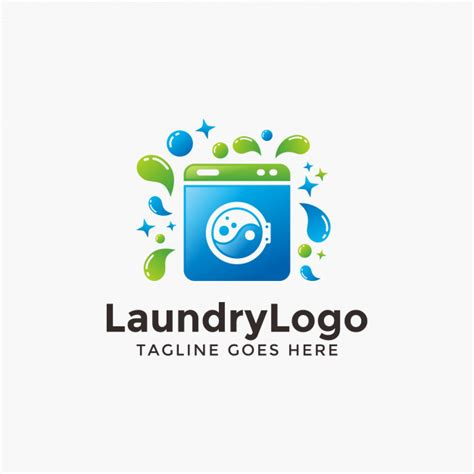 logo design laundry service abstract modern laundry logo design template vector