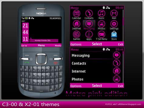 nokia c3 themes cute pink c3 00 asha 200 x2 01 theme metro pink edition wb7themes