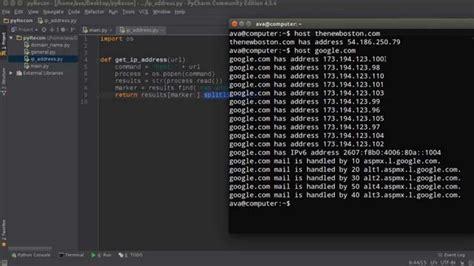 python tutorial youtube bucky python website scanner tutorial 3 ip address