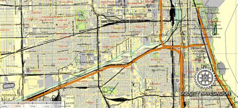 chicago illinois usa map map chicago illinois usa ai 7