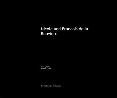 Nicole and Francois de la Rouviere by Deirdre Hewitson