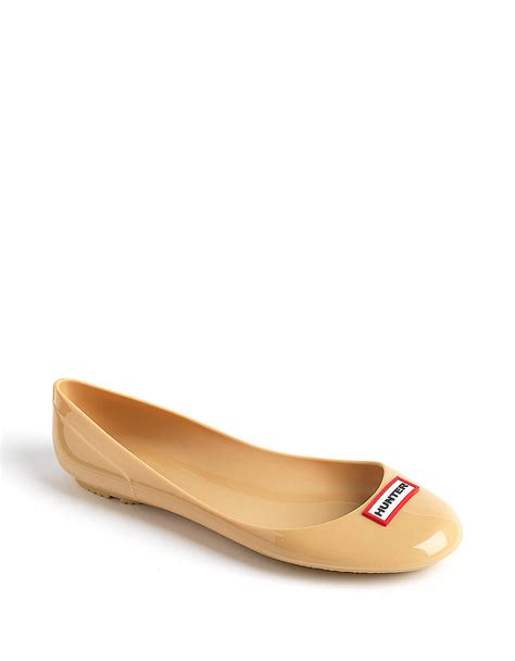 jelly shoes flats romilly jelly ballet flats in gold brown lyst