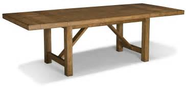 Trestle dining table with leaf for rustic farmhouse dining room ideas