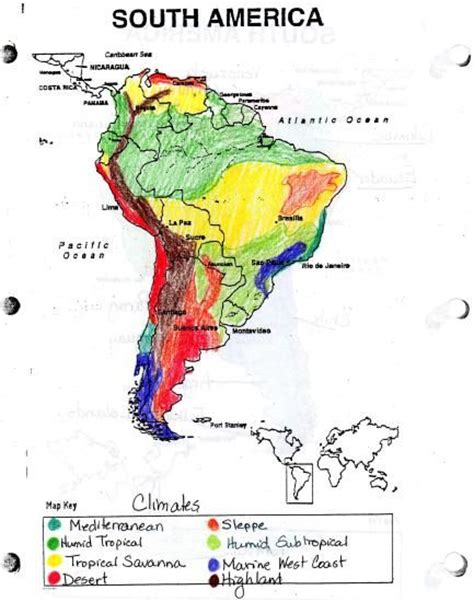 south america map and review worksheet answers maps ch 10 caribbean south america climates map jpg