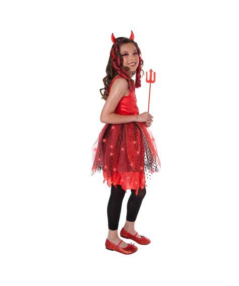 Devil Dazzling Light Up Kids Costume Devil Halloween Light Up Costume