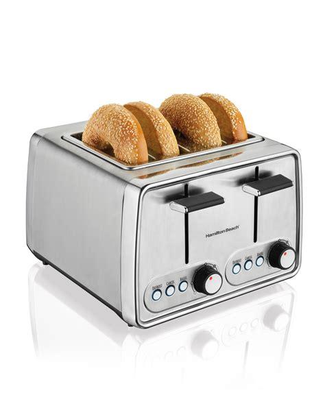 Large Toasters Amazon Com Hamilton Beach 24791 Modern Chrome 4 Slice