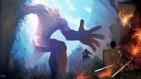Wallpaper Anime Hd Attack On Titan | anime attack on titans fight hd wallpaper