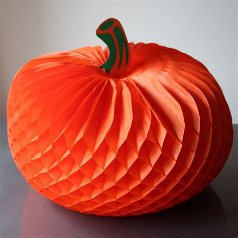 Paper Pumpkins - paper pumpkin decorations by pearl and earl