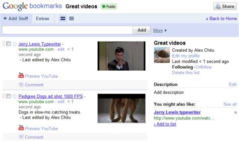 google images favorites google bookmarks lists