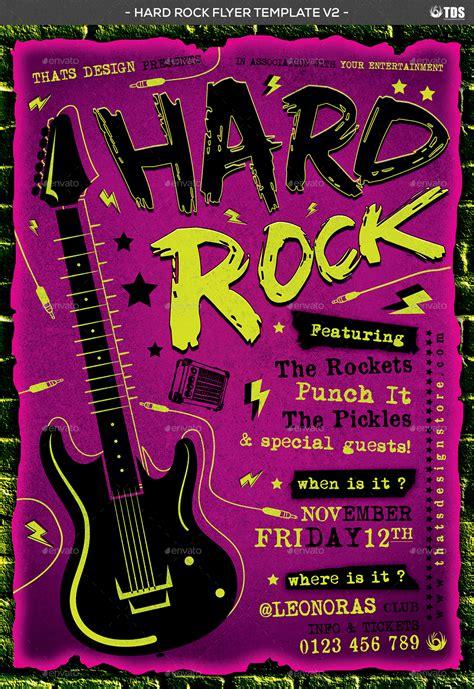 Hard Rock Flyer Template V2 By Lou606 Graphicriver Flyer Template V2