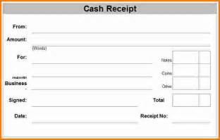 7 cash receipt form expense report