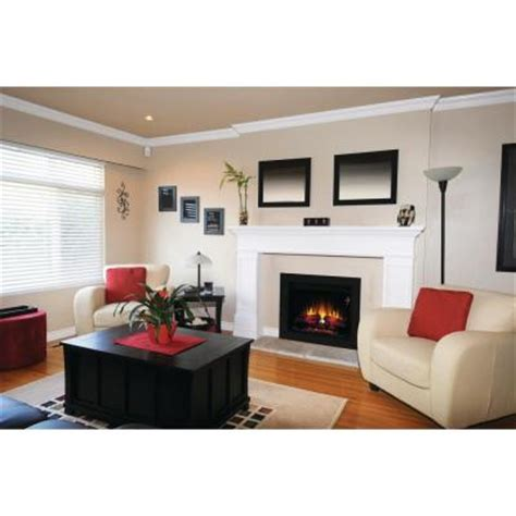 home depot fireplace paint kit 26 in electric fireplace insert with flush mount trim kit