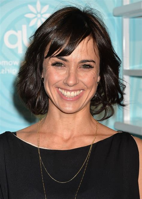hairstyles with bangs over 40 constance zimmer short wavy hairstyle with bangs for women
