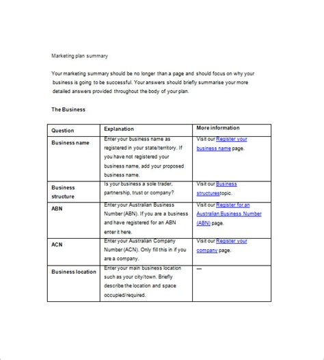 marketing plan template simple marketing plan template plan template