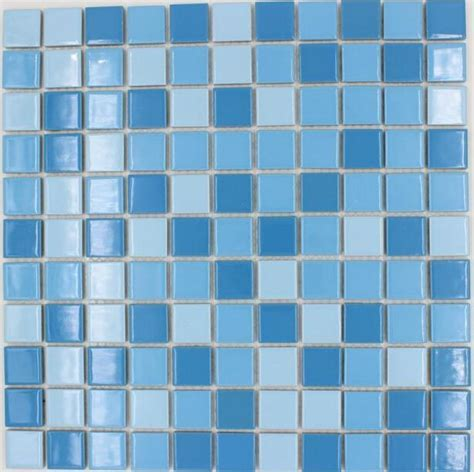 2019 Square Tile Sky Blue Mixed Blue Color Ceramic Mosaic