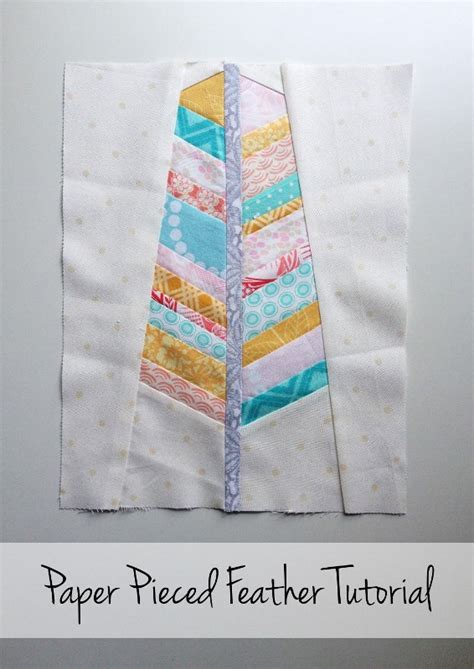 tutorial paper piecing quilting free feather block pattern paper piecing tutorial