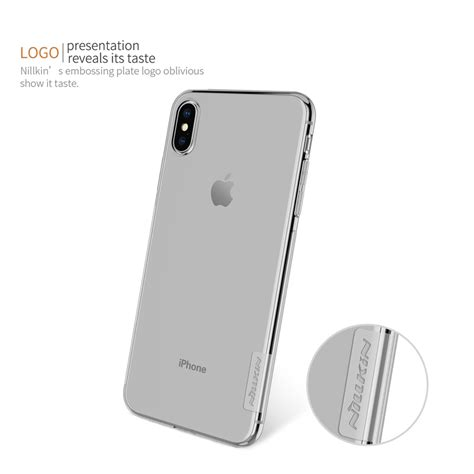 nillkin transparent soft phone for iphone xs max white