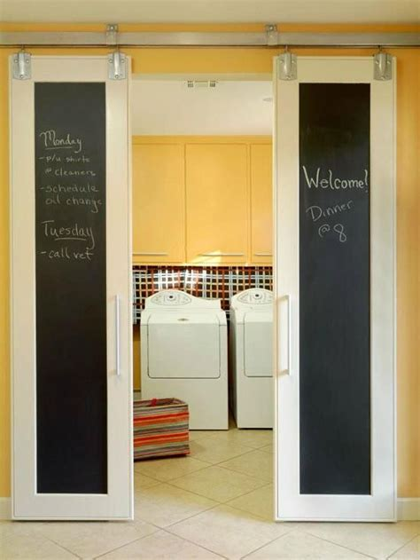 Magnetic Closet Doors Barn Style Sliding Doors With Magnetic Chalkboard Paint Diy Projects Pinterest