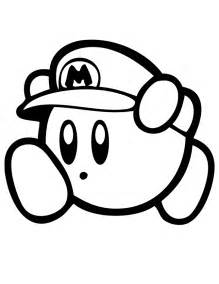 kirby coloring pages kirby mario coloring page h m coloring pages